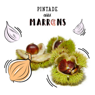 Pintade aux marrons