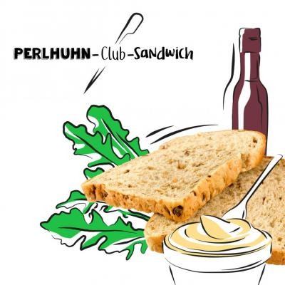 Perlhuhn-Club-Sandwich